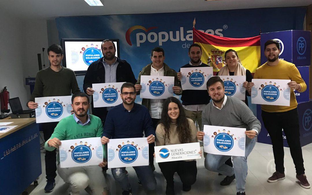 NNGG ALBACETE PRESENTA UN AÑO MÁS LA CAMPAÑA «POPULARES SOLIDARIOS»
