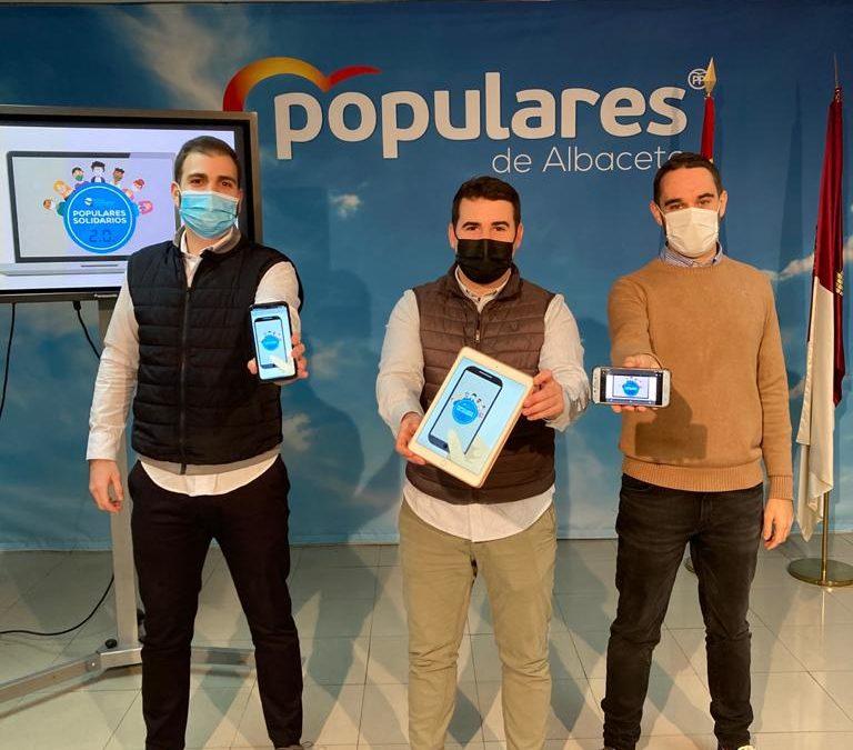 """La campaña solidaria de NNGG de Albacete """"Populares Solidarios 2.0"""" se desarrollará de manera virtual y presencial para ayudar al mayor número de personas"""